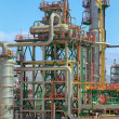 Stock Photo: Pipes thousand colors in modern oil refinery