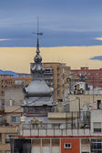 Domes of churches in the city of Cartagena, Spain — Stock Photo
