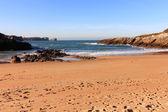 Небольшой песчаный пляж в Северном море — Стоковое фото
