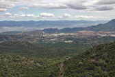 Landscape of the mountains of Sierra Espuña in Cartagena Spain — Stock Photo