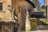 Typical houses in the World Heritage town of Santillana del Mar, — Stock Photo