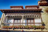 Tipiche case nella città patrimonio mondiale di santillana del mar, — Foto Stock