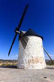 Old Windmill XVI century white stone and wood — Stock Photo