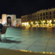 Famous square in the center of the medieval town of Avila, Spain — Stock Photo #33227739