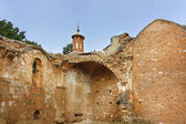 Area in ruins of the famous stone monastery built in 1194, Nuevalos, Spain — Stock Photo