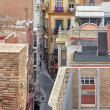 General view of old alley in Cartagena, Spain — Stock Photo
