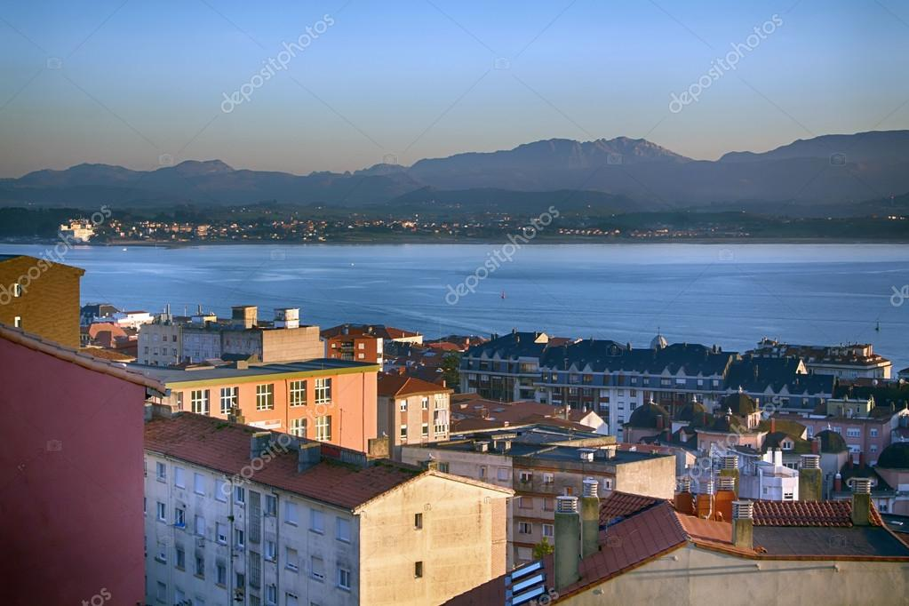 General view from up at dusk in the city of santander - Be up santander ...