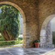 Stock Photo: Old chapel entrance in SVicente de lbarquerSpain