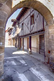 Streets of famous people Aguilar de Campo, Spain, famous for its — 图库照片