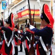 CARTAGENA, SPAIN Mar 25: Picket of soldiers parading with evenin — Stock Photo #36037925