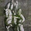 Ceramic wall picture of Don Quixote and Sancho Panza — Стоковая фотография