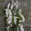 Ceramic wall picture of Don Quixote and Sancho Panza — 图库照片