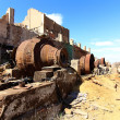 Hoppers rusty old iron ore — Stock Photo