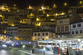 Night view of the tourist fishing village of Cudillero, Spain — Foto Stock