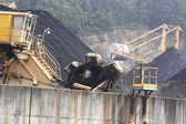 Huge excavator of coal in a mine — Photo
