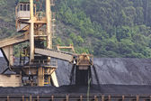 Huge excavator of coal in a mine — Foto Stock