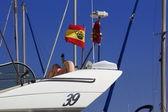 Antenna di radar sistema marittimo — Foto Stock