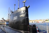 Old retired military submarine for scrapping — Stock Photo