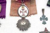 Ancient medals and military decorations — Stock Photo