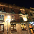 Stock Photo: Facade of old house overnight in Leon ,Spain