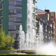 Street and Park in the city of Oviedo, Spain — Stock Photo #37373141