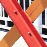 Welded iron beams — Stock Photo #37485523