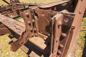 Highly oxidized iron rivets — Photo