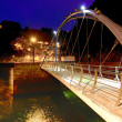 Stock Photo: Modern iron bridge overnight in Cudillero, Spain