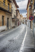 Narrow and typical street of the town of Tordesillas, Spain — 图库照片