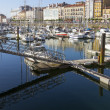 Small marinwith calm sein city of Gijon, Spain — Stock Photo #38334987