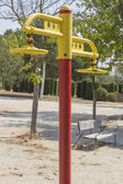 Public park with exercise equipment — Stock Photo