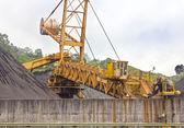 Huge excavator of coal in a mine — Stock Photo