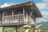 Horreo , Granary, typical Galician house — Foto Stock