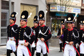 CARTAGENA, SPAIN Mar 25: Picket of soldiers parading with evenin — Zdjęcie stockowe