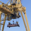 Stock Photo: Huge container crane