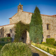 Stock Photo: Old church Catholic shrine in San Vicente de la barquera Spain