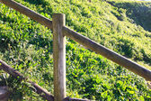 Wooden fence in the countryside — Stock Photo