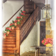 A gateway in a typical house full of flowers in Andalusia Spain — Stock Photo #39423213