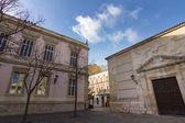 Streets and buildings typical of the city of Palencia, Spain — Stock Photo