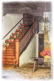 Tipik bir ev ağ geçidi Endülüs İspanya çiçek dolu — Stok fotoğraf
