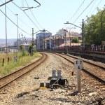 Train rails perspective — Stock Photo