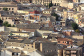 General view of the rooftops of an ancient city, Toledo, Spain — Stock Photo