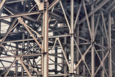 Old structure of iron beams — Stock Photo