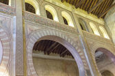 Inside ancient mosque in the city of Toledo, Spain — Stock Photo