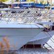 Bow of white yachts — Stock Photo #40457945