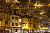 Night view of the tourist fishing village of Cudillero, Spain — Stock Photo