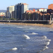 White sand beach in city of Gijon, Spain — Stock Photo #40507683