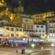 Stock Photo: Night view of tourist fishing village of Cudillero, Spain