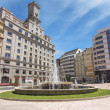 Street and Park in the city of Oviedo, Spain — Stock Photo