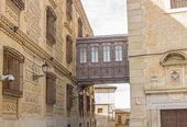 Old narrow medieval streets of the resort town of Toledo, Spain — Stock Photo